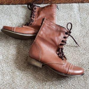 Steve Madden Leather Kombat Boots